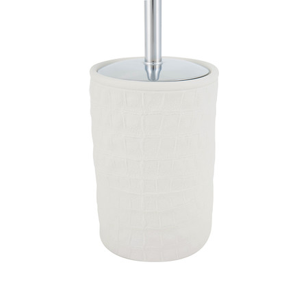 Villari - Alligator Toilet Brush - Matt White