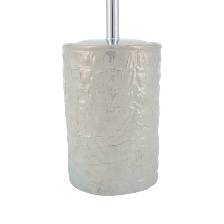Villari - Alligator Toilet Brush - Pearl Gray