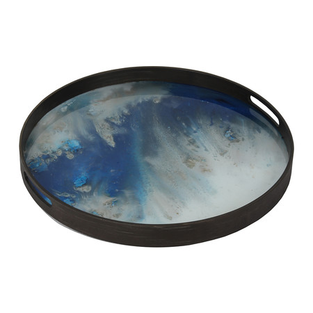 Ethnicraft - Blue Mist Glass Tray - Small