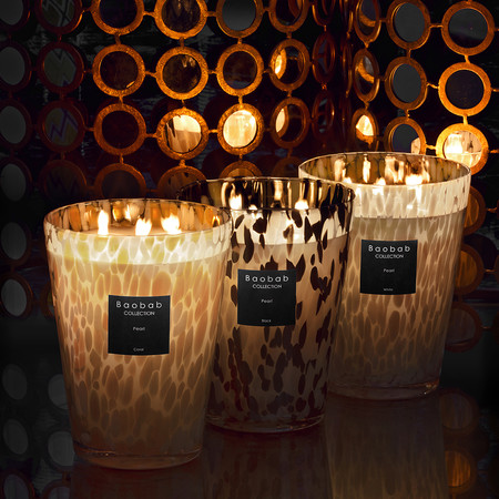 Baobab Collection - Scented Candle - Black Pearls - 24cm