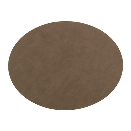 LIND DNA - Oval Table Mat - Brown