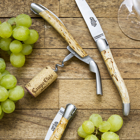 Forge de Laguiole - Sommelier Corkscrew with Traditional Bee - Birchwood Handle