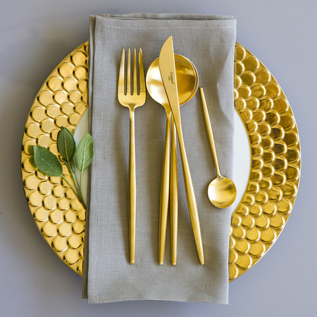 Cutipol - Moon Cutlery Set - 24 Piece - Matt Gold
