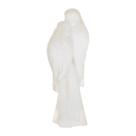 Lalique - Two Parakeets Figure - Gold Luster