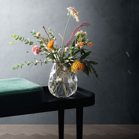 Buy Georg Jensen Facet Glass Vase Amara