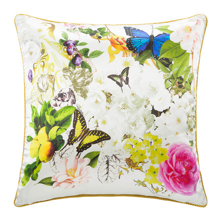 Roberto Cavalli - Blaze Silk Bed Pillow - White - 60x60cm