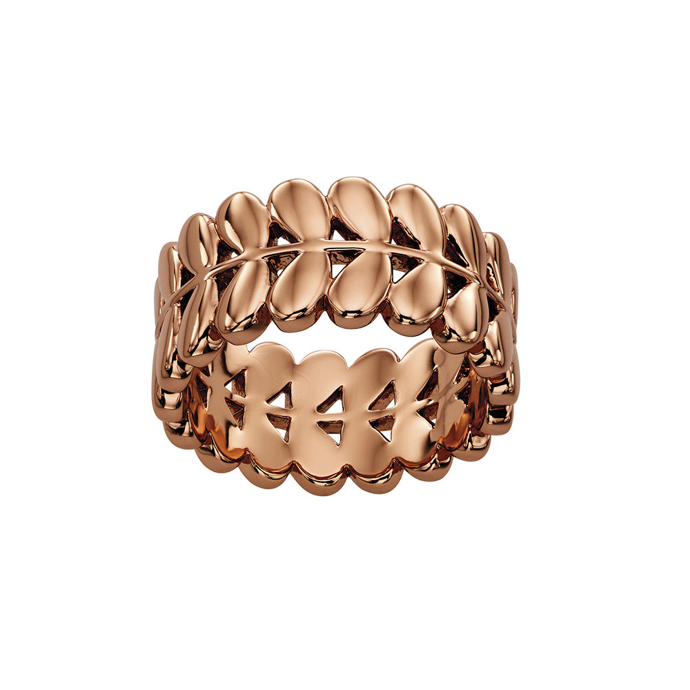 Orla Kiely Orla Kiely – Buddy Rose Gold Stem Ring – 56