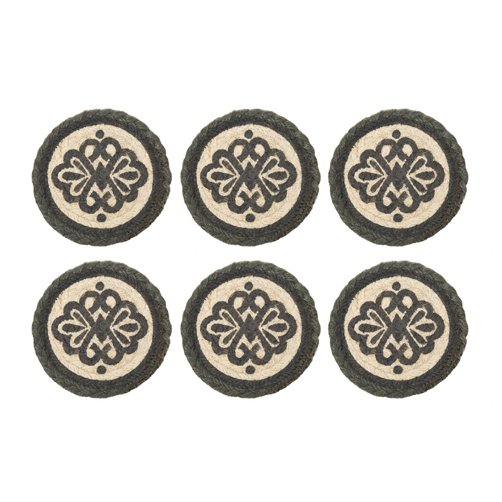 The Braided Rug Company - Coasters Set of 6 - Railings