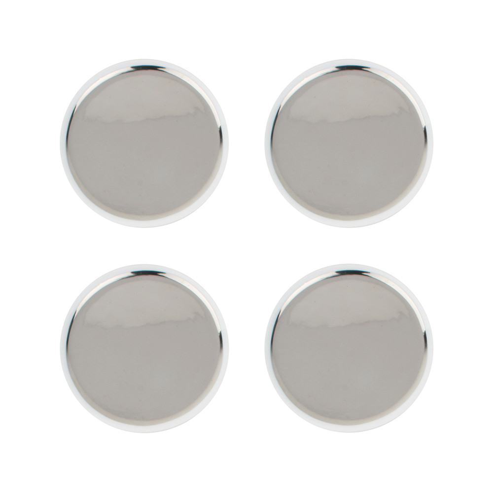 Canvas Home - Dauville Coasters - Set of 4 - Platinum