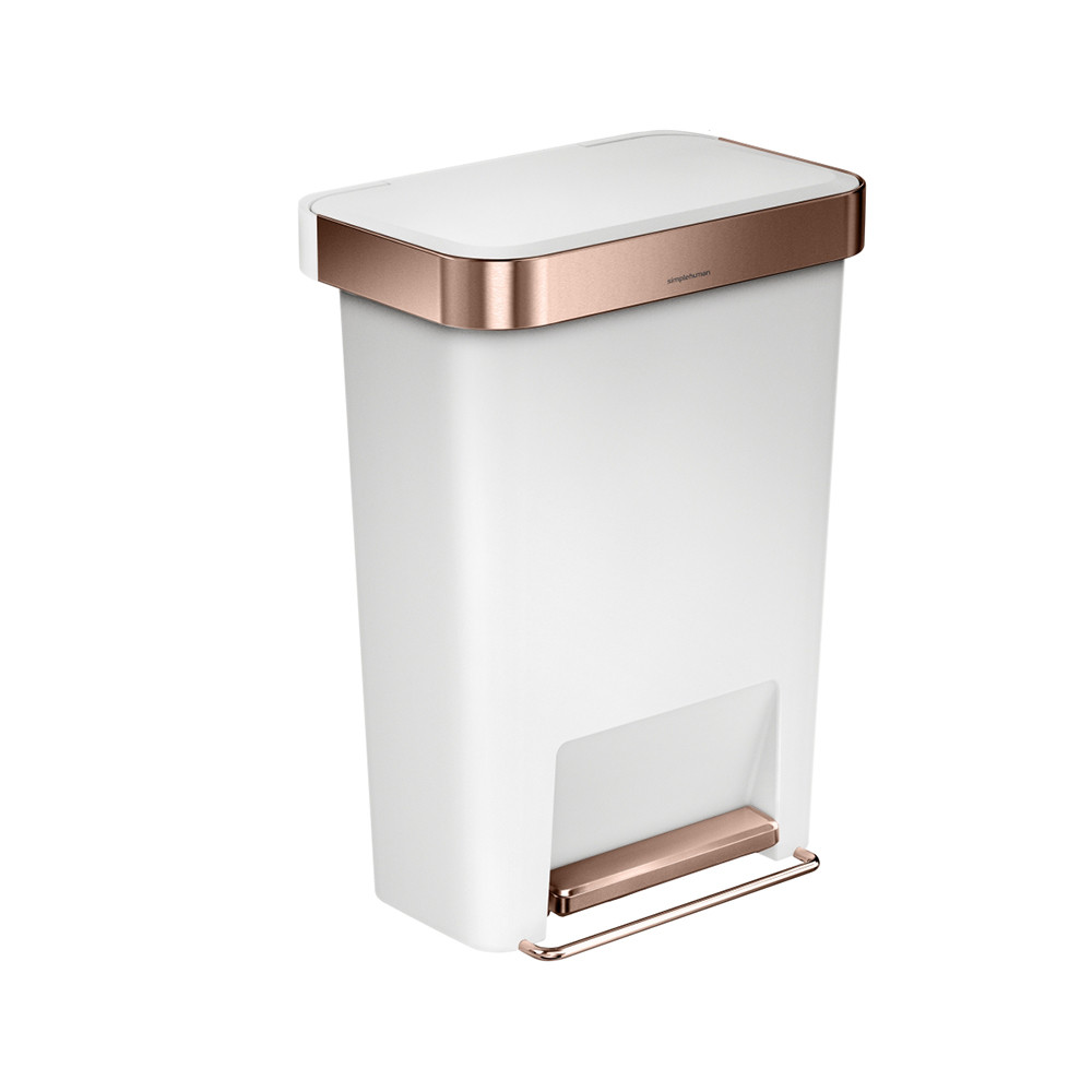 White Kitchen Bin buy simplehuman rectangular pedal bin with liner pocket - rose