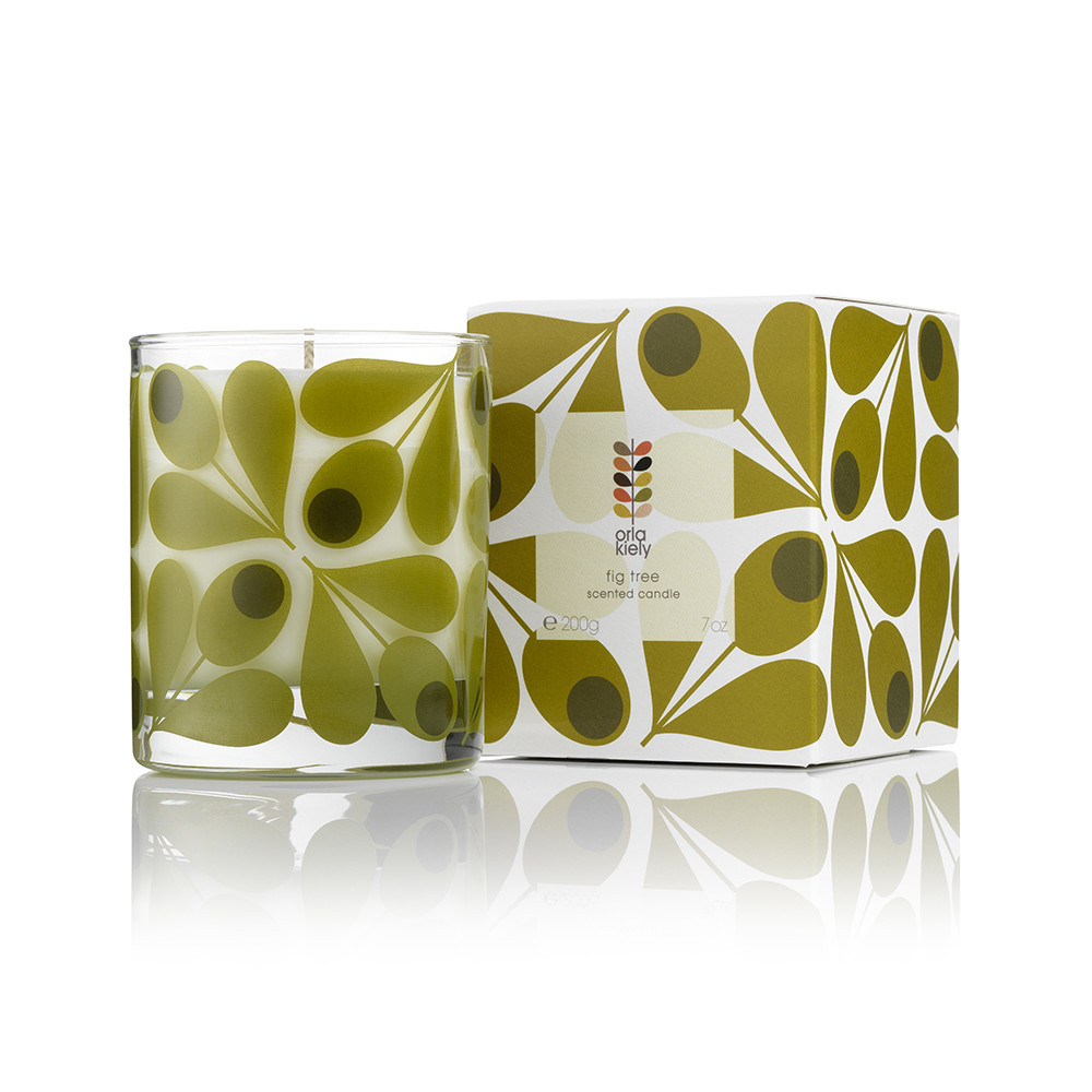 Buy orla kiely fig tree scented candle 200g amara for Amara homes