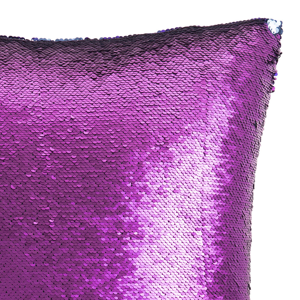 acheter aviva stanoff coussin sequins sir ne deux tons brume violette 45 45cm amara. Black Bedroom Furniture Sets. Home Design Ideas
