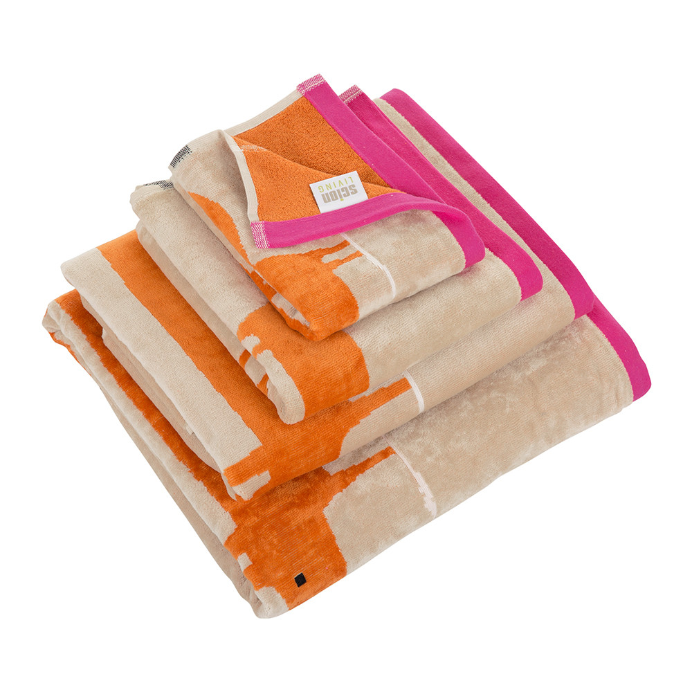 Hand Towels Bathroom: Cerise & Tangerine