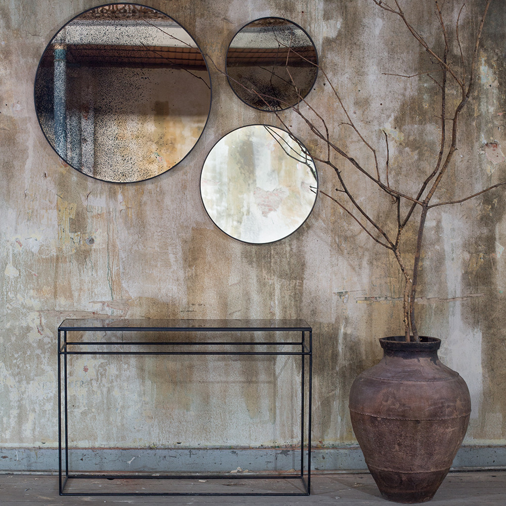 Buy notre monde heavy aged mirror console bronze copper for Beaux miroirs