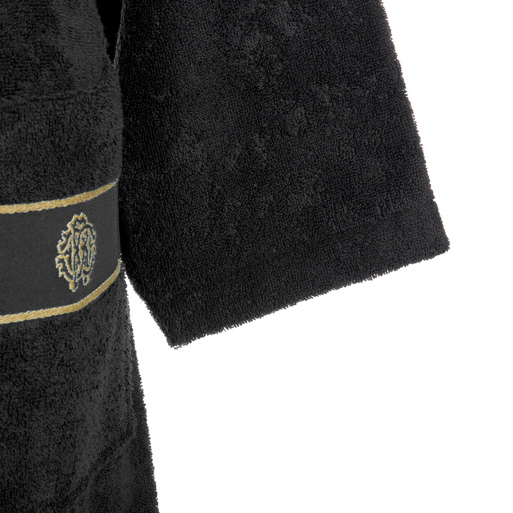 Roberto Cavalli - Gold Shawl Bathrobe - Black