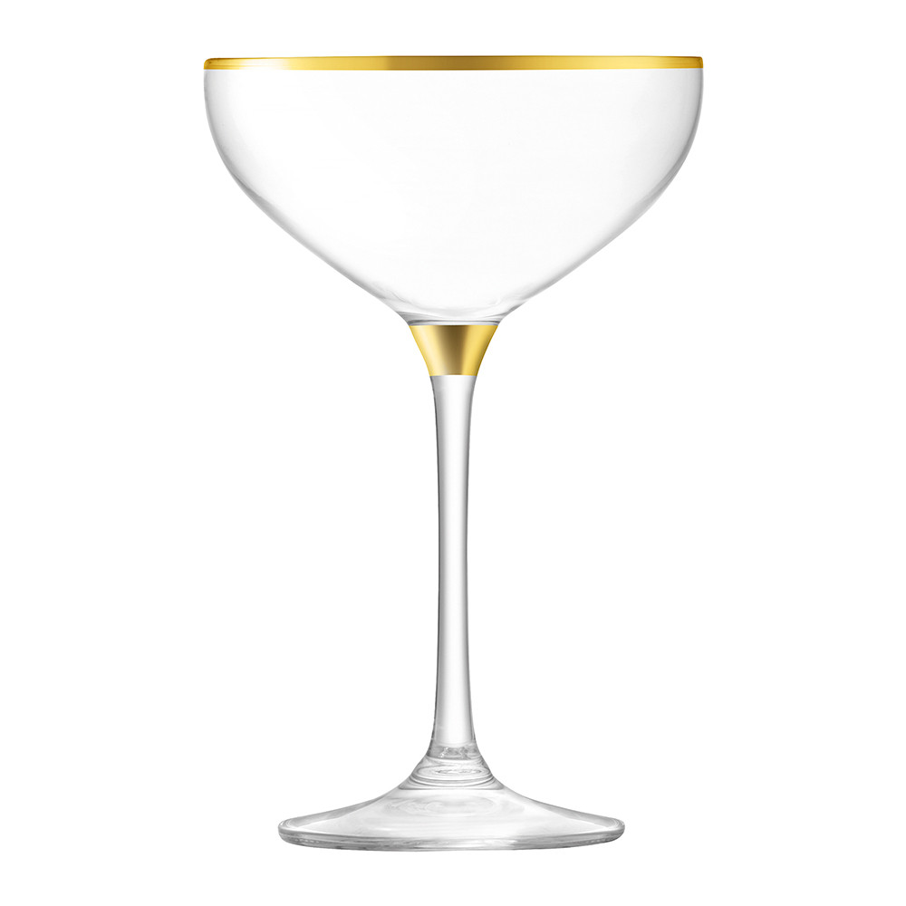 LSA International - Deco Assorted Gold Champagne Saucers - Set of 8