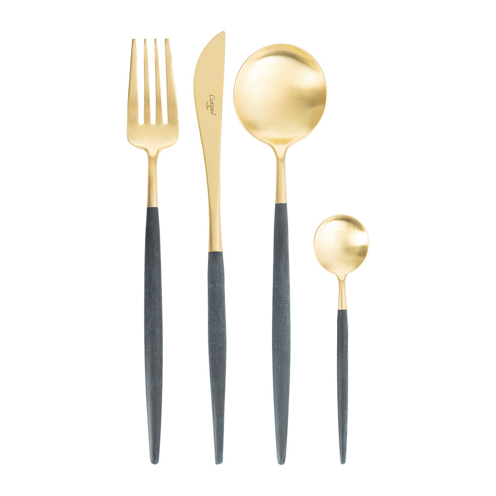 Cutipol - Goa Cutlery Set - 24 Piece - Matt Blue Gold