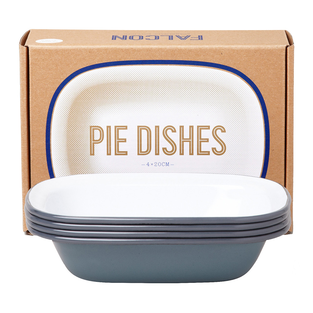 Falcon - Pie Dishes - Pigeon Gray