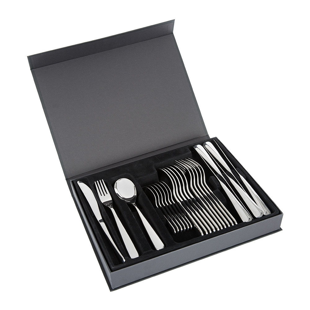 A by Amara - Paloma Stainless Steel Flatware Set - 24 Piece