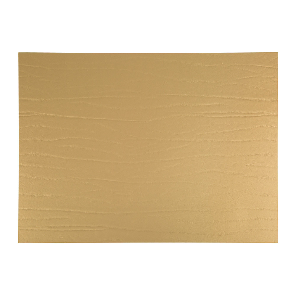 A by Amara - Recycled Leather Placemat - Gold