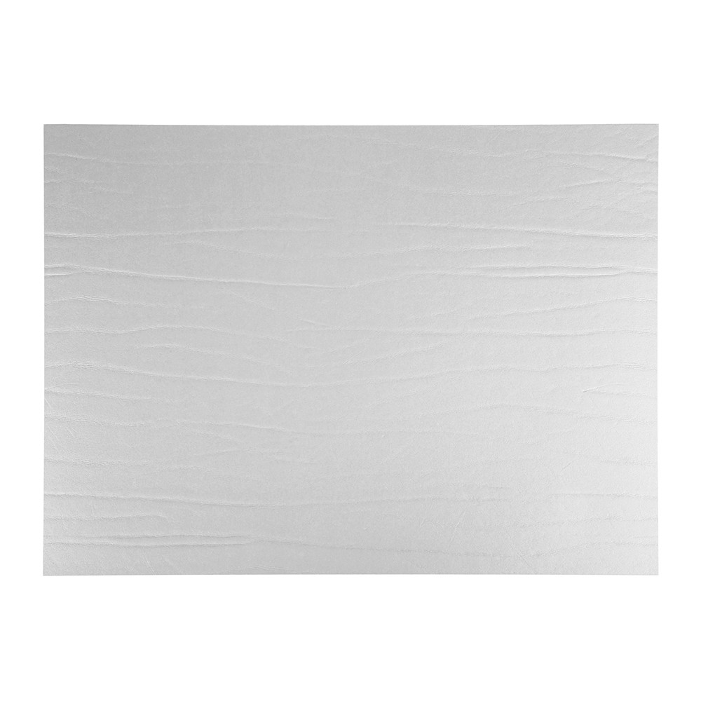 A by Amara - Recycled Leather Placemat - Silver