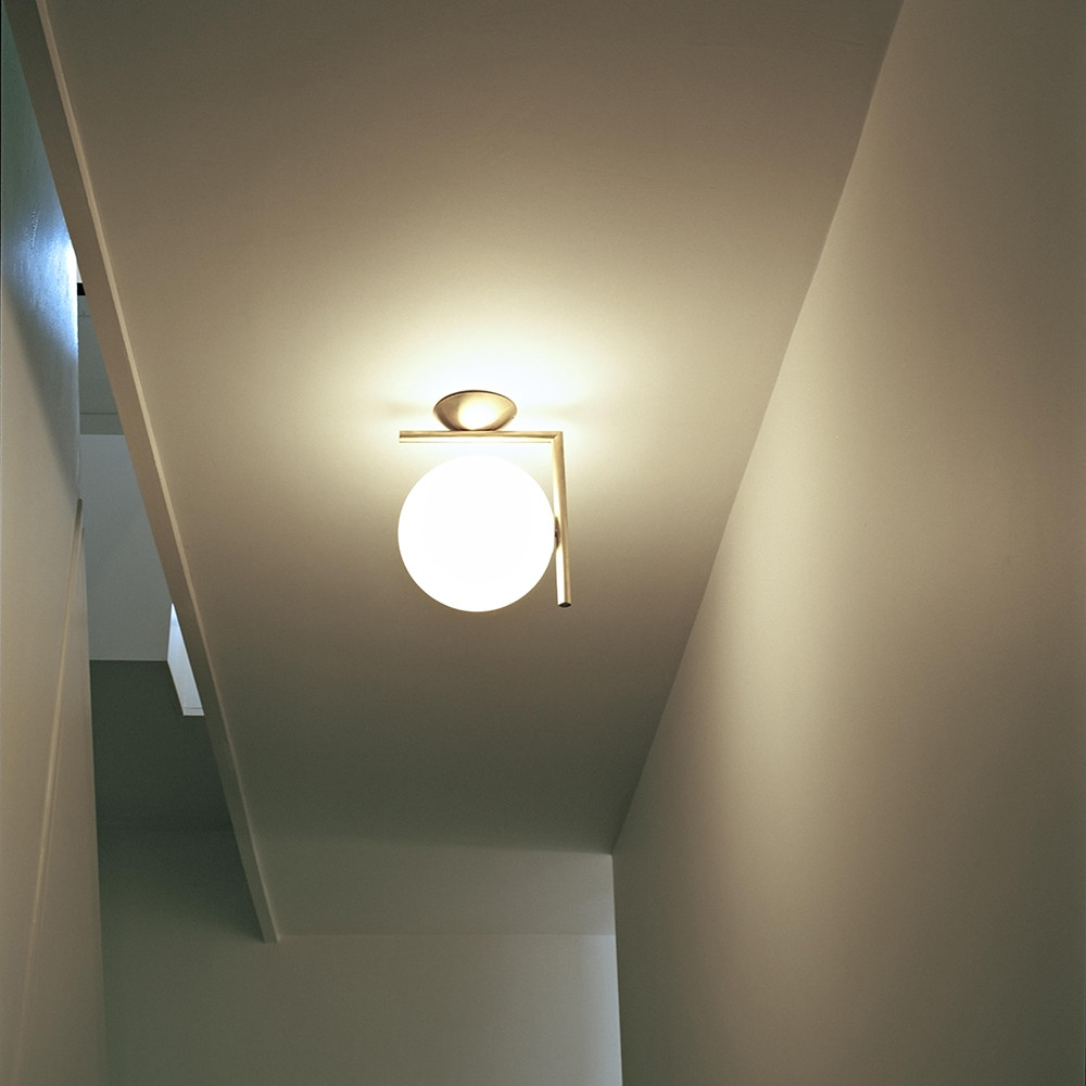 Buy flos ic wallceiling light brass amara mozeypictures Images
