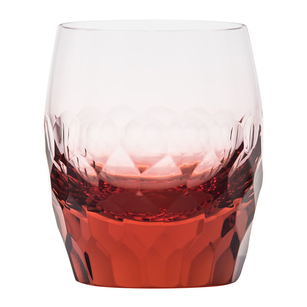 Moser - Bar Old Fashioned Tumbler - Cut and Polished Pebbles - Rosalin