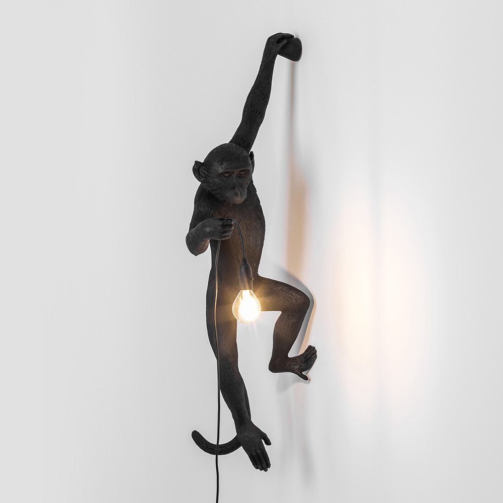 Buy seletti monkey lamp hanging black amara - Eigentijdse hangerlamp ...