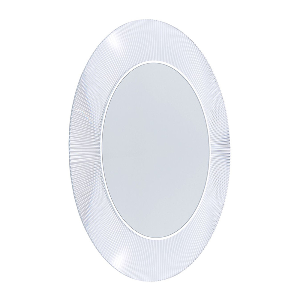 Kartell - All Saints Round Mirror - Crystal