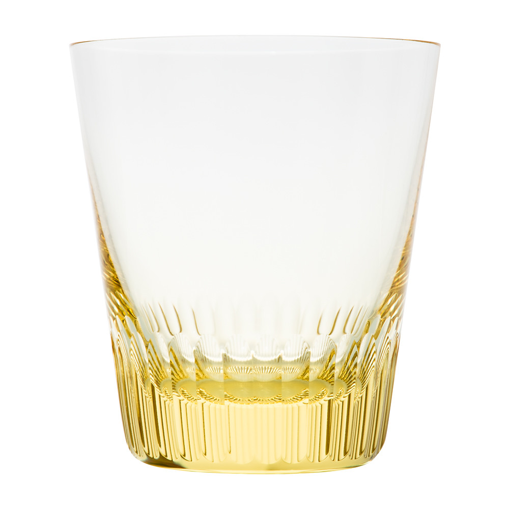 Moser - Conus Double Old Fashioned Tumbler - Cut Grooves - Eldor