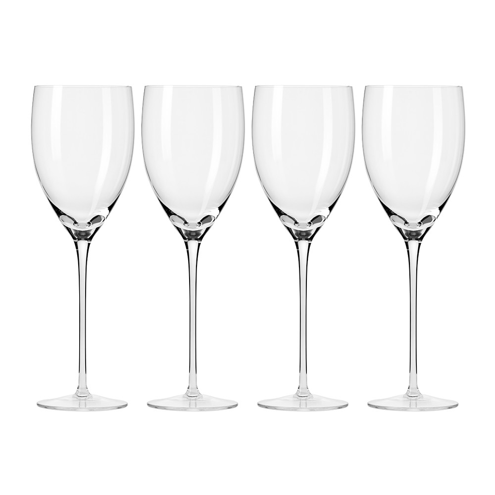 A by Amara - Droplet Handmade Red Wine Glass - Set of 4