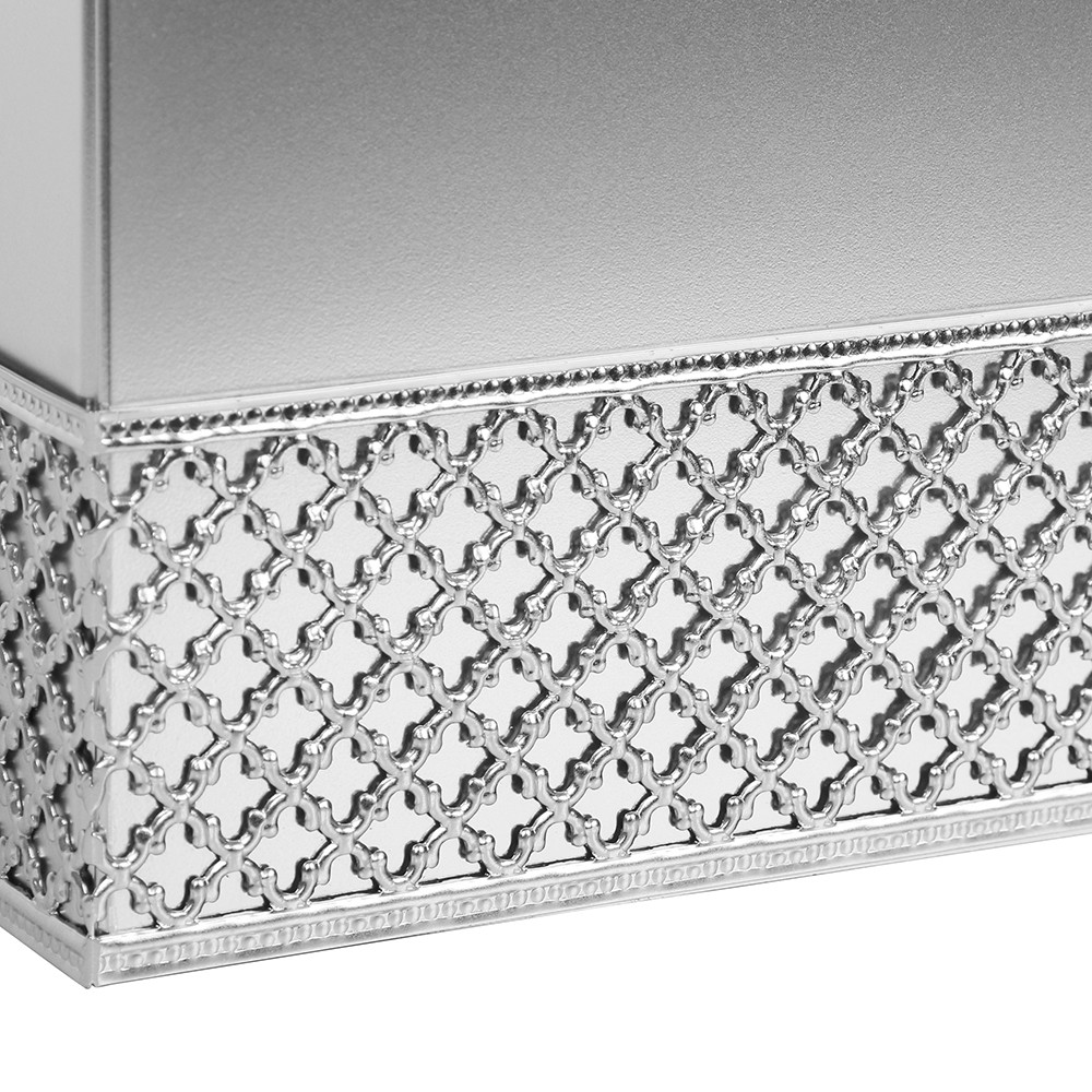 Elegant Chrome Tissue Box Cover Mirrored Cu With