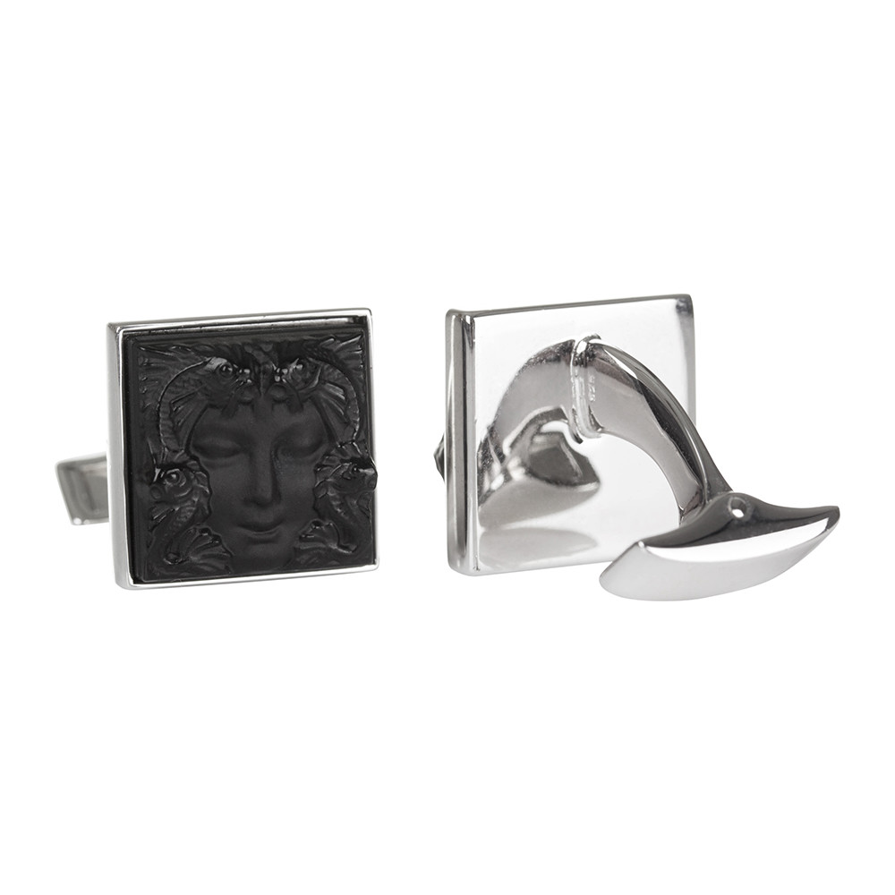 Lalique - Arethuse Cufflinks - Black