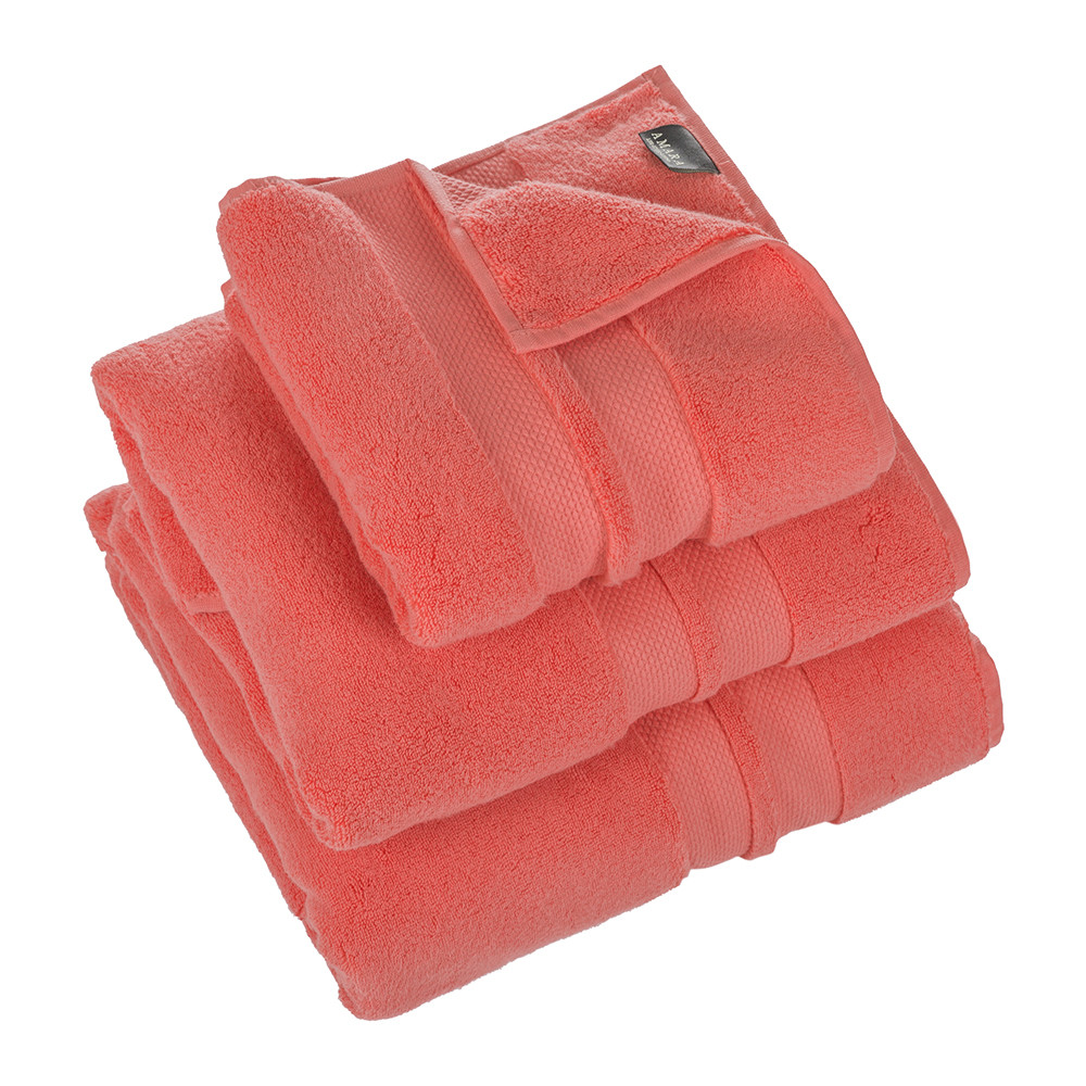 Buy a by amara super soft cotton 700gsm towel coral for Bathroom towels