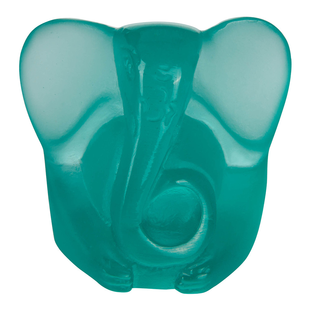 Daum Crystal - Small Ganesh Sculpture - Turquoise