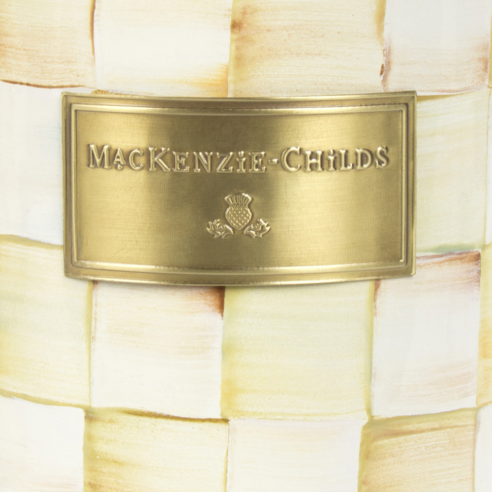 MacKenzie-Childs - Parchment Check Enamel Canister - Large