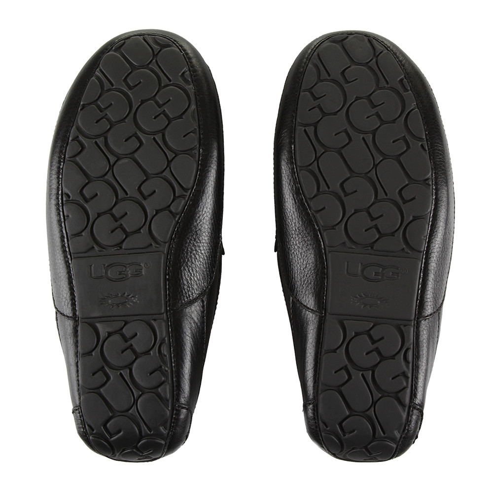 UGG® - Men's Ascot Leather Slippers - Black