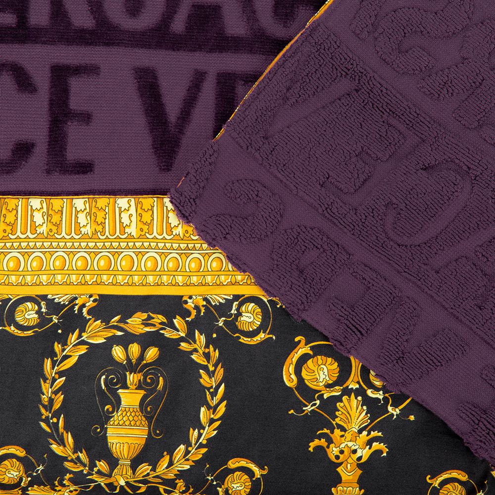 Versace Home - Barocco&Robe Beach Towel - Purple
