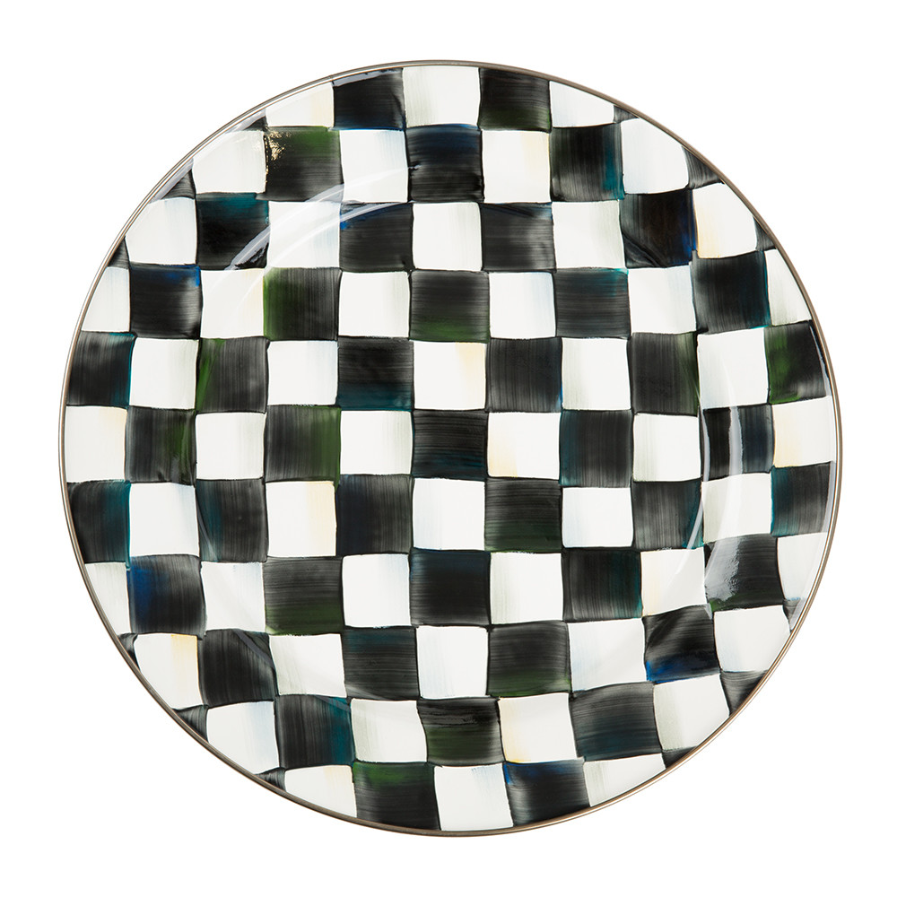 MacKenzie-Childs - Courtly Check Enamel Charger / Plate
