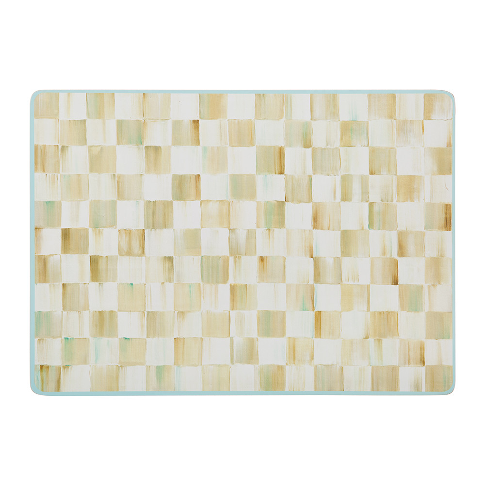 Buy Mackenzie Childs Parchment Check Cork Back Placemats