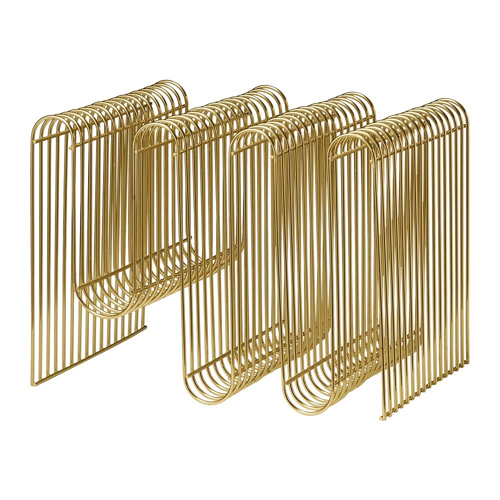 AYTM - Curva Magazine Holder - Gold