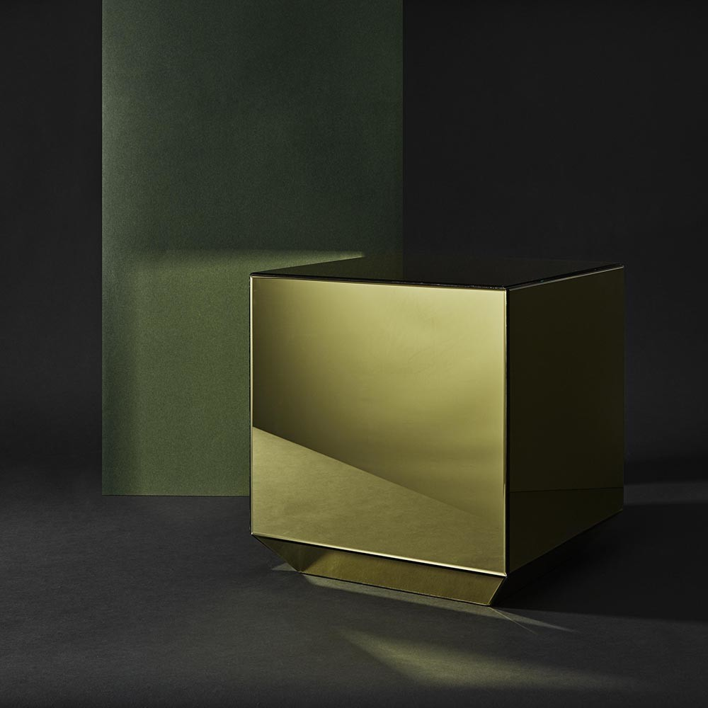 AYTM - Speculum Small Mirrored Table - Gold