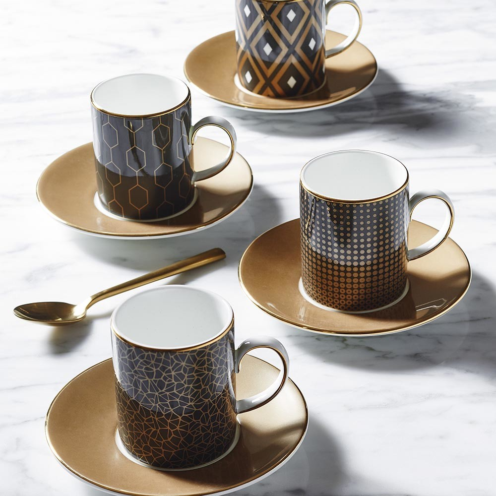 Buy Wedgwood Arris Espresso Cup & Saucer - Set of 2 ...