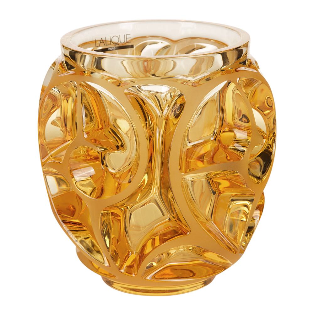 Lalique - Tourbillons SS Vase - Amber