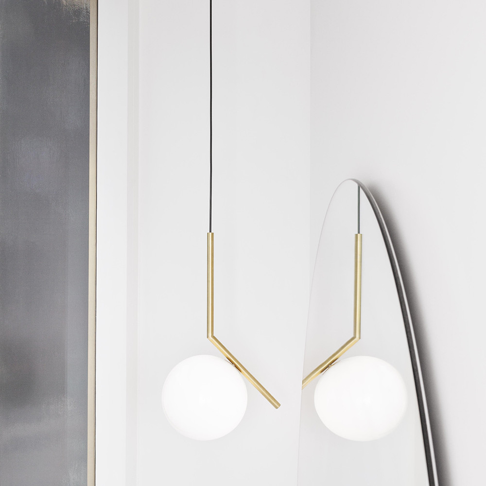 Flos - IC S2 Ceiling Light - Brass
