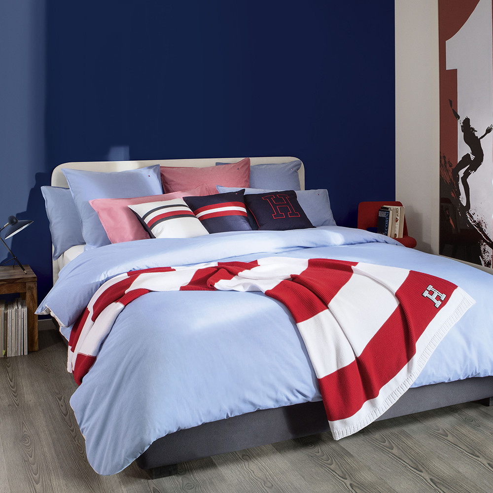 Buy Tommy Hilfiger Chambray Duvet Cover Blue King Amara