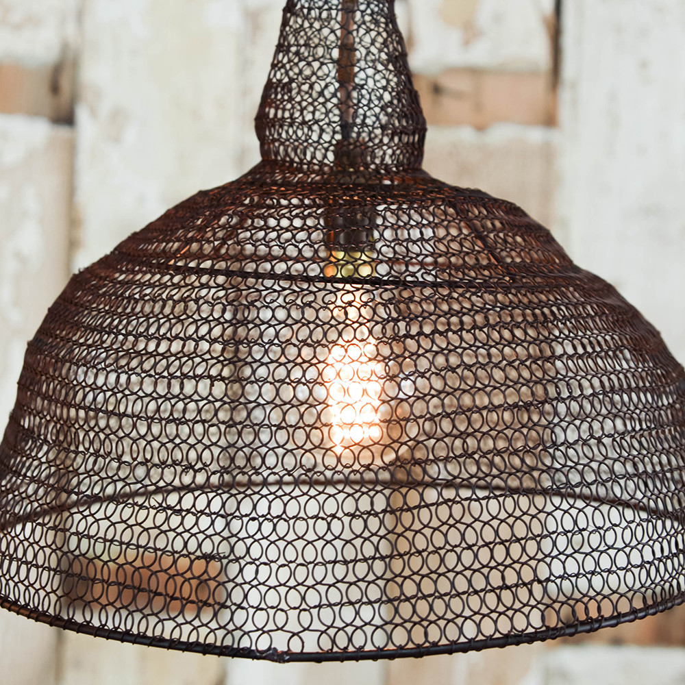 Jatani Wire Lamp Shade - Conical - Rust