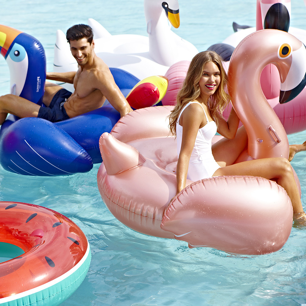 Sunnylife - Luxe Inflatable Flamingo - Rose Gold