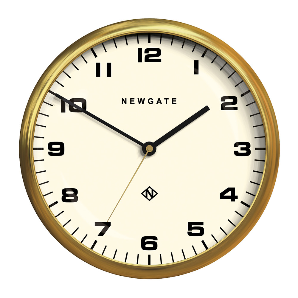 Newgate Clocks - Chrysler Wall Clock - Radial Brass