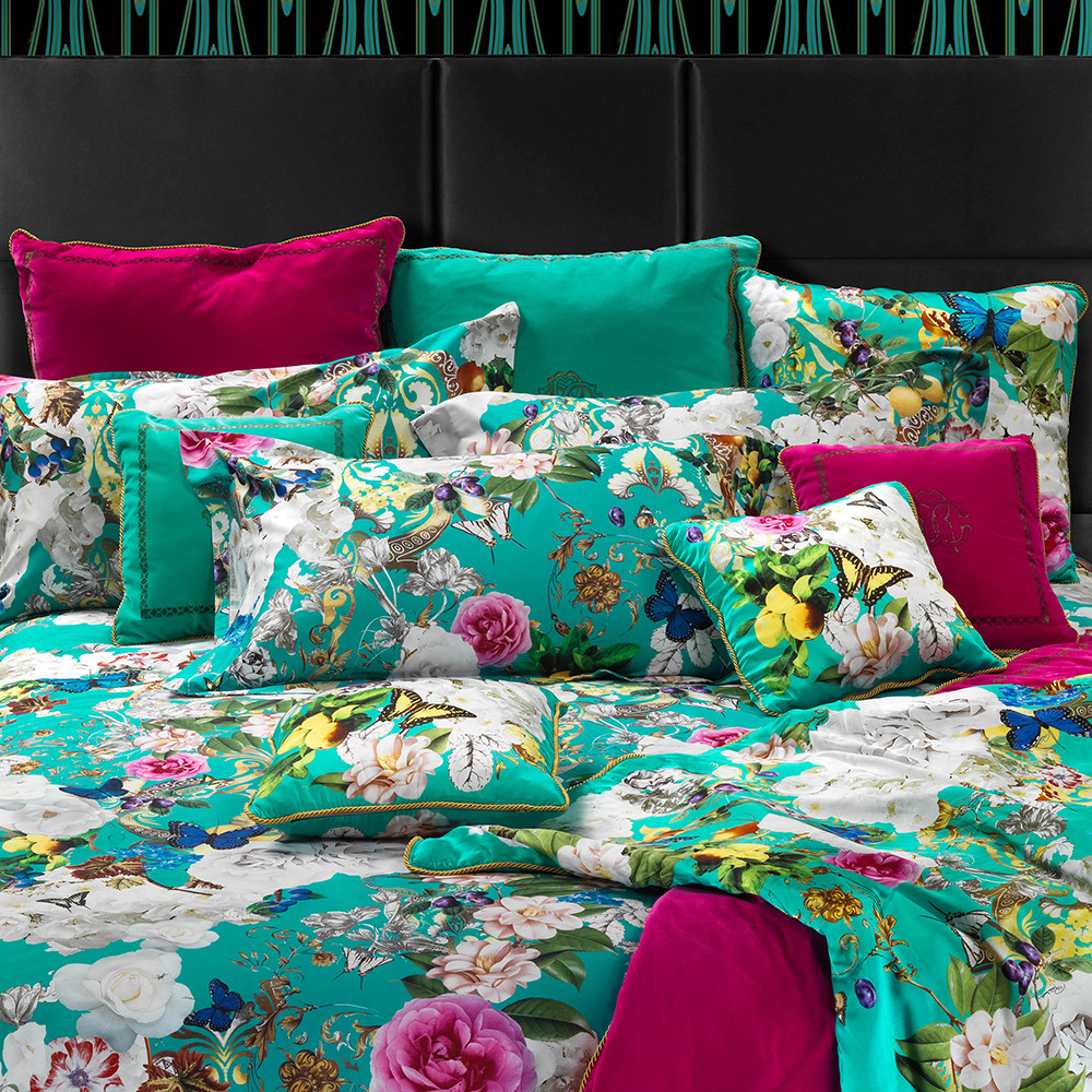Roberto Cavalli - Blaze Bed Set - Super King - Teal